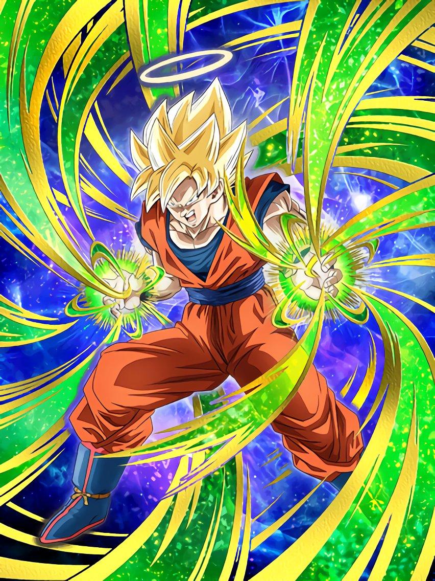 Strongest in the otherworld super saiyan goku angel dragon ball z dokkan battle wikia - Goku super sayen ...