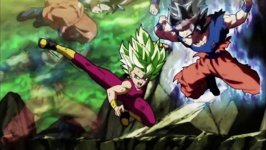 Kefla Tries to Kick Goku