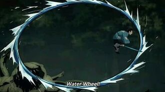 Water Breathing Second Form WATER WHEEL Kimetsu no Yaiba