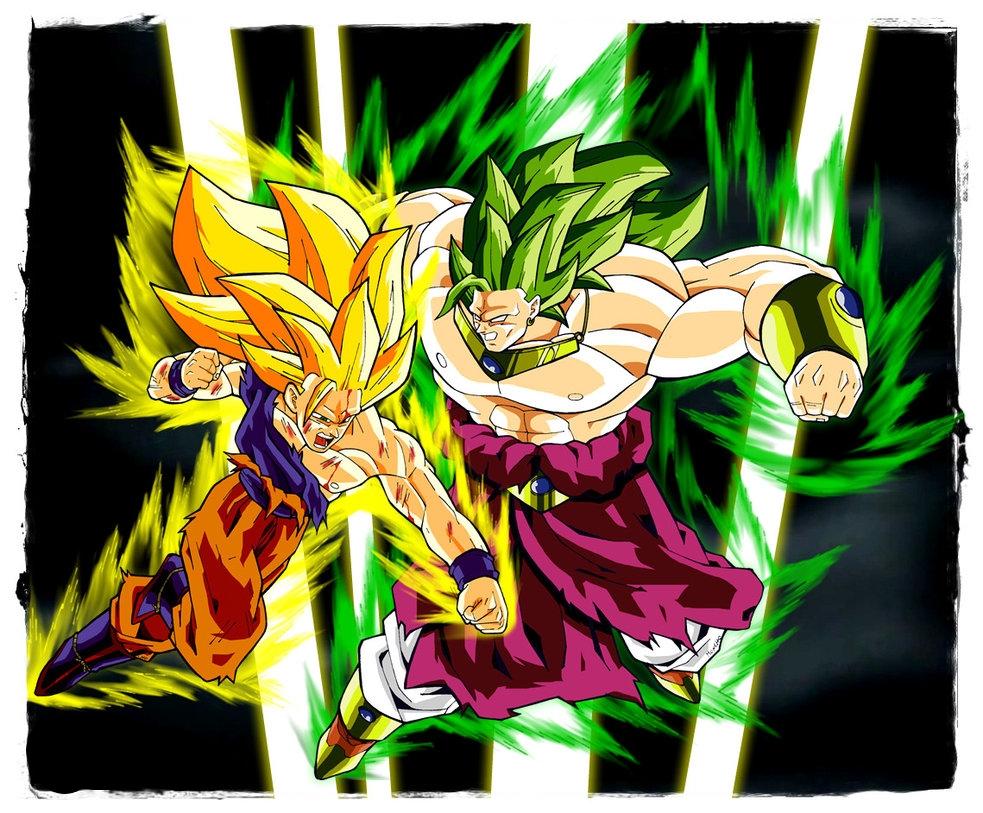 SSJ3 Goku Vs LSSJ3 Broly