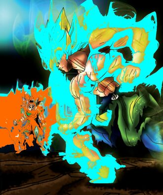 SZ Goku SSJ vs Volcazo