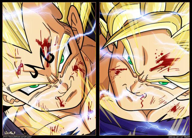 File:Majin SSJ2 Vegeta vs SSJ2 Goku.jpg