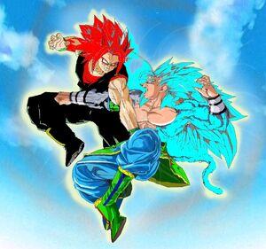 Subzero Goku SSJ3 vs Blaze Volcazo