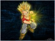 Super Saiyan Kid Trunks by Kazmedia