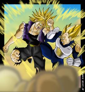 Trunks vs Vegeta SSJ