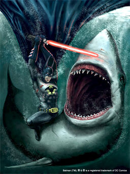 Batman vs shark