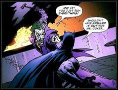 Le premier combat entre Batman et le Joker