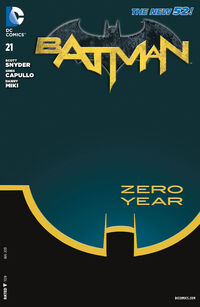 Couverture du Premier Numéro de la saga Batman : Zero Year - Secret City