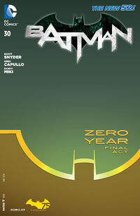 Couverture Combo du Premier Numéro de la saga Batman : Zero Year - Savage City