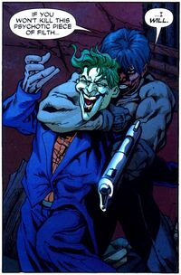 Jason Todd menace de tuer le Joker