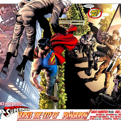 <b>Superman menace de faire chuter Glenmorgan du haut d'un immeuble</b>