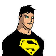 Pose oficial de Superchico con su traje de la primera temporada.