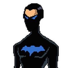 Pose oficial de Bat Boy con su traje inicial de la primera temporada.
