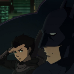 Junto a Damian Wayne.