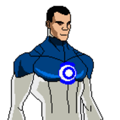 Pose oficial de Linterna D con su traje de la primera temporada.