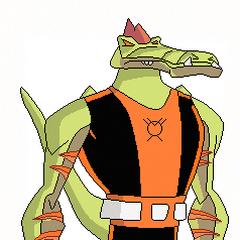 Krycek como un Linterna Naranja.