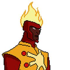 Pose oficial de Firestorm con su traje de la primera temporada.