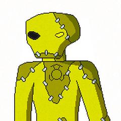 Scarek como un Linterna Sinestro.