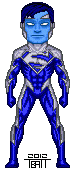 Micro blue superman by everydaybattman-d4usffj