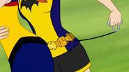 Batgirl DCSHG pulling the Hook from her Belt