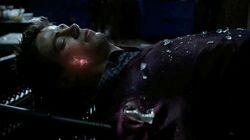 Blitze auf Barrys Haut