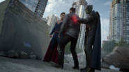 Superman Martian Manhunter im Krypton Park