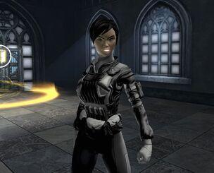 Sherri in armor