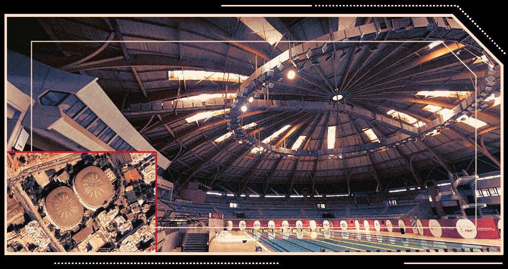 Olympic pool complex Med V Casablanca domed building