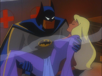 Batman saves Nora