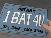 License plate for the Batmobile