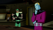 Green Arrow and Brainiac 5