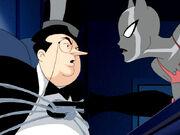 Batwoman interrogates Penguin