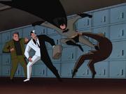 Batman thwarts thugs