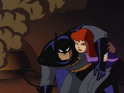 Barbara Gordon saves Batman