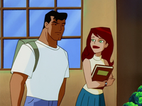 Young Clark Kent and Lana Lang