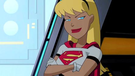 Justice League recruitment. Missions. Superconfident. Superconfident.  Supergirl exudes confidence.