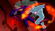 Captain Atom fights Superman