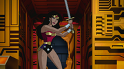 Wonder Woman fights Thanagarians