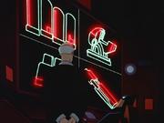 Batman inspects stolen tech