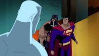 Atom betrays Superman and Huntress