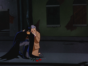Batman and Leslie Thompkins mourn together