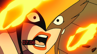 Hawkgirl screams