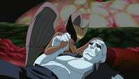 Hawkgirl cries