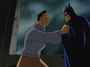 Wayne and Batman fight