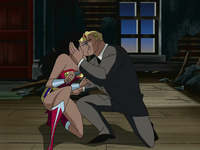 Wonder Woman and Steve kiss