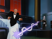 Mr. Freeze blasts Alfred