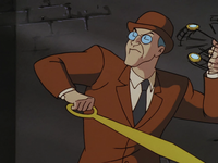 The Clock King spars with Batman