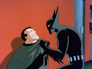 Batman interrogates Howard