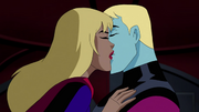 Supergirl and Brainiac 5 kiss