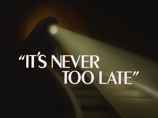 Image result for batman animated it's never too late title card